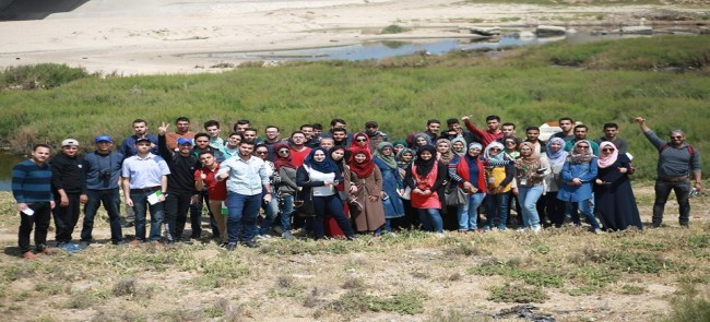 As a part of the environmental week activities: Natuf forum organize environmental trip to Wadi Gaza area