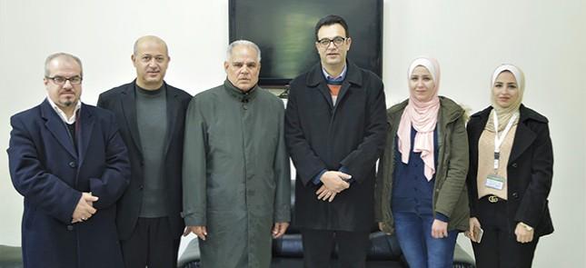 في إطار فتح آفاق تعاون مشترك: وفد من نطوف يزور مجلس الأمناء في جامعة الأزهر