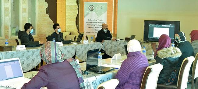 ضمن مشروع  تعزيز عمالة الشباب من خلال توفير التدريب الفني وخدمات الاستضافة
